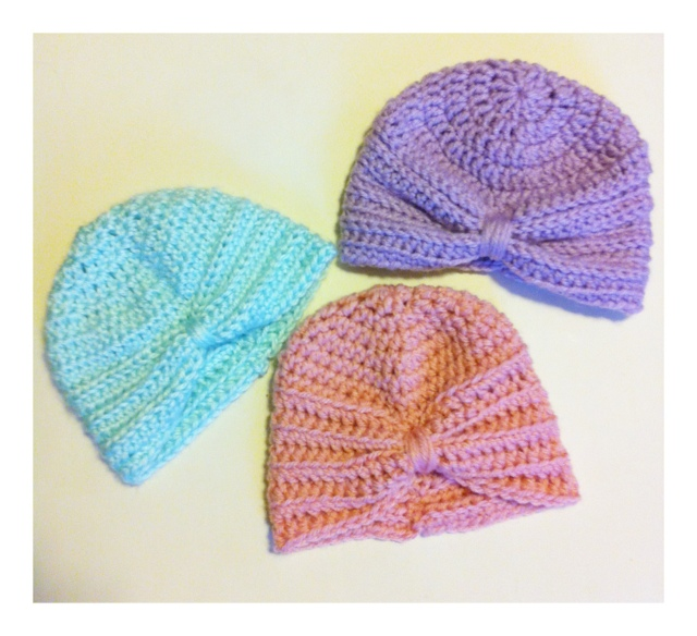 Crochet Pattern Turban Hat : Crochet Baby Turban Pattern - Kozy and Co